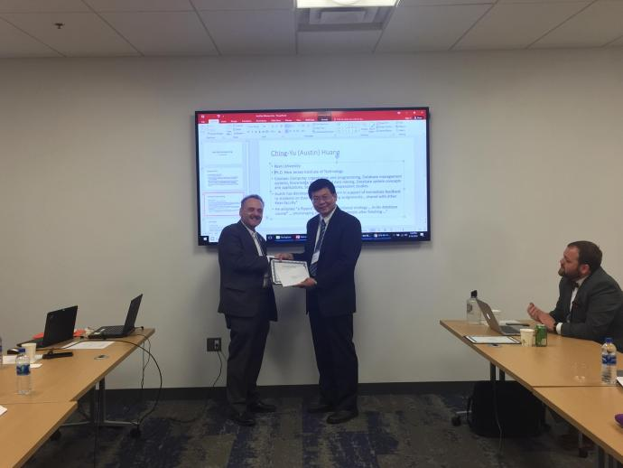 Austin Huang of Kean University