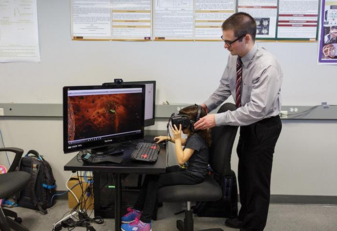 virtual reality game used in eye therapy