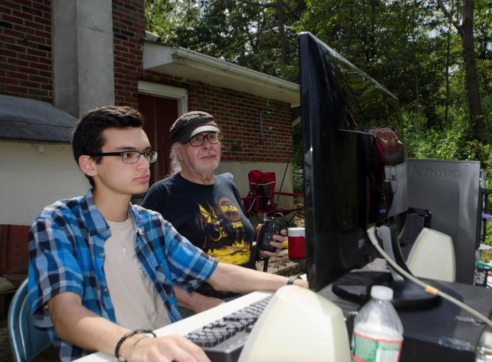 NJIT ham radio club members, past and present, at Jenny Jump during the eclipse