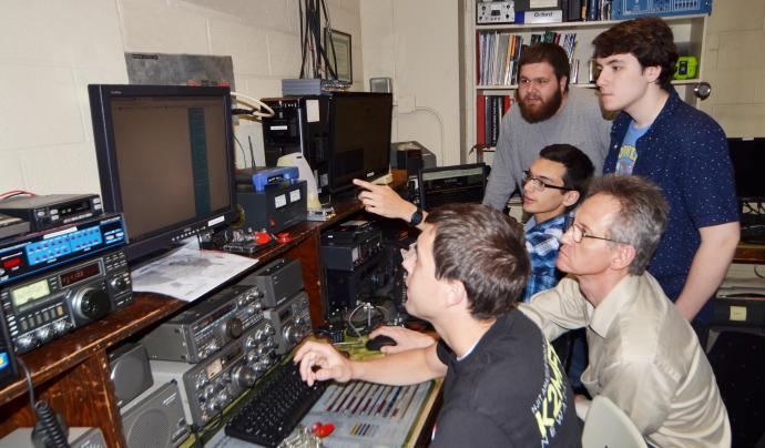NJIT's ham radio room