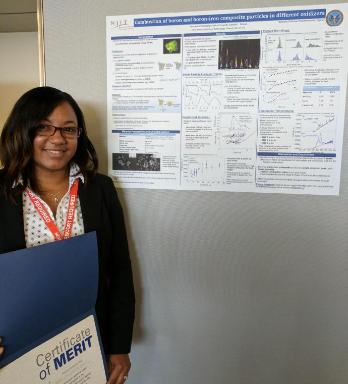 Kerri-lee Chintersingh with her winning poster