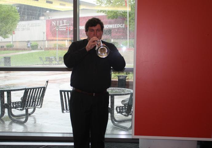 Clayton Powell '18 playing TAPS