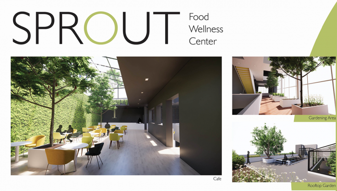 Chu's design for the Sprout Wellness Center