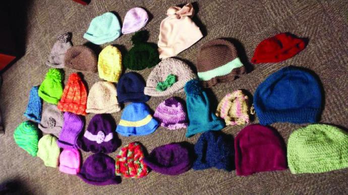 The Knit n' Crochet Club donated 53 hats to cancer patients at Newark Beth Israel Medical Center.
